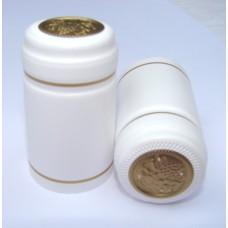 Termokapsle 28,5-30,8x55, bílá 1002, zlatý top