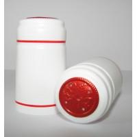 Termokapsle 28,5-30,8x55 mm bílá 1004, červený top