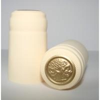 Termokapsle 28,5-30,8x55 mm krémová 1007, zlatý top