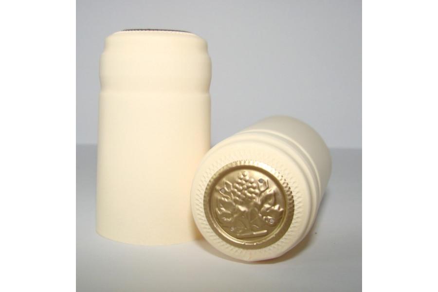 Termokapsle 28,5-30,8x55 mm krémová 1007, zlatý top obrázek