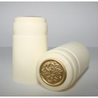 Termokapsle 28,5-30,8x55 mm krémová 1008, zlatý top