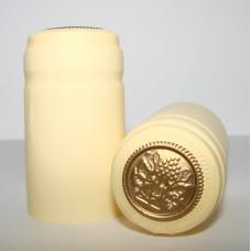 Termokapsle 28,5-30,8x55 mm krémová 1015, zlatý top