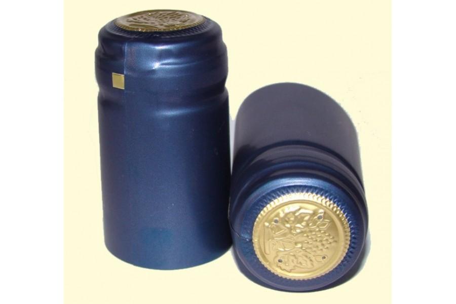 Termokapsle 28,5-30,8x55 mm modrá 3006, zlatý top obrázek