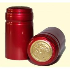 Termokapsle 28,5-30,8x55 mm červená 4004,  zlatý top