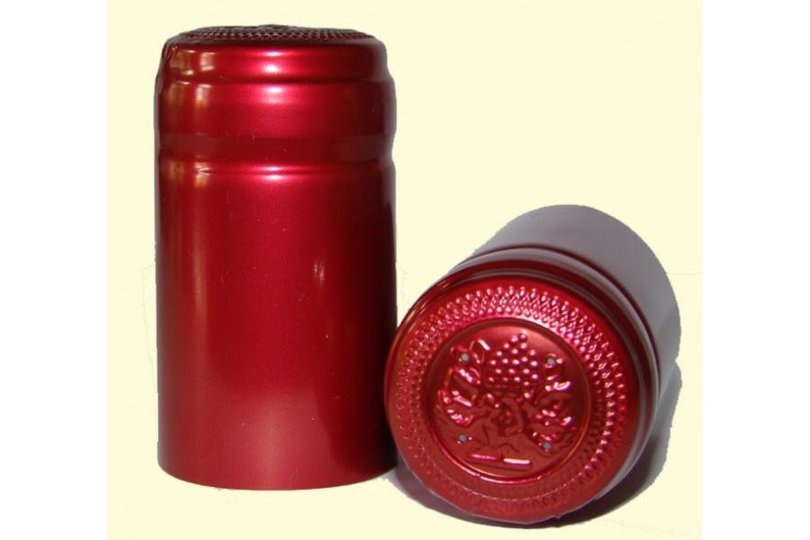 Termokapsle 28,5-30,8x55 mm červená 4004, červený top obrázek