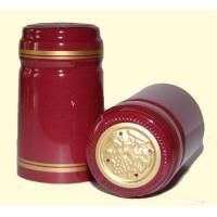 Termokapsle 28,5-30,8x55 mm bordová 4005, zlatý top