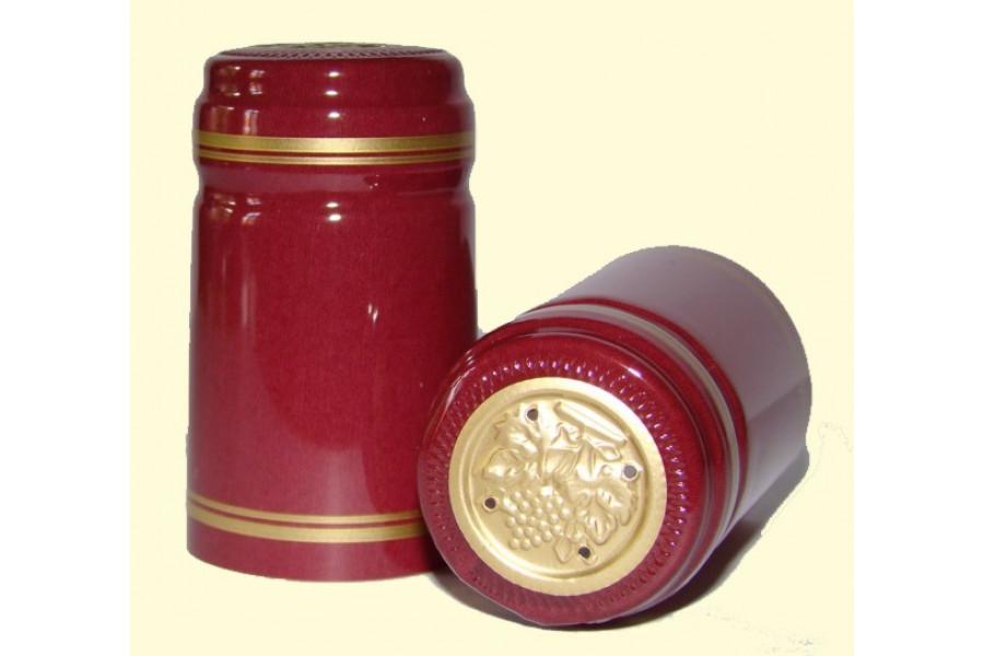 Termokapsle 28,5-30,8x55 mm bordová 4005, zlatý top obrázek