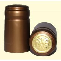 Termokapsle 28,5-30,8x55 mm hnědá 5005, zlatý top
