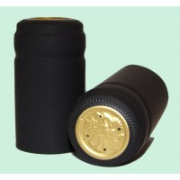 Termokapsle 28,5-30,8x60 mm černá 5007, zlatý top