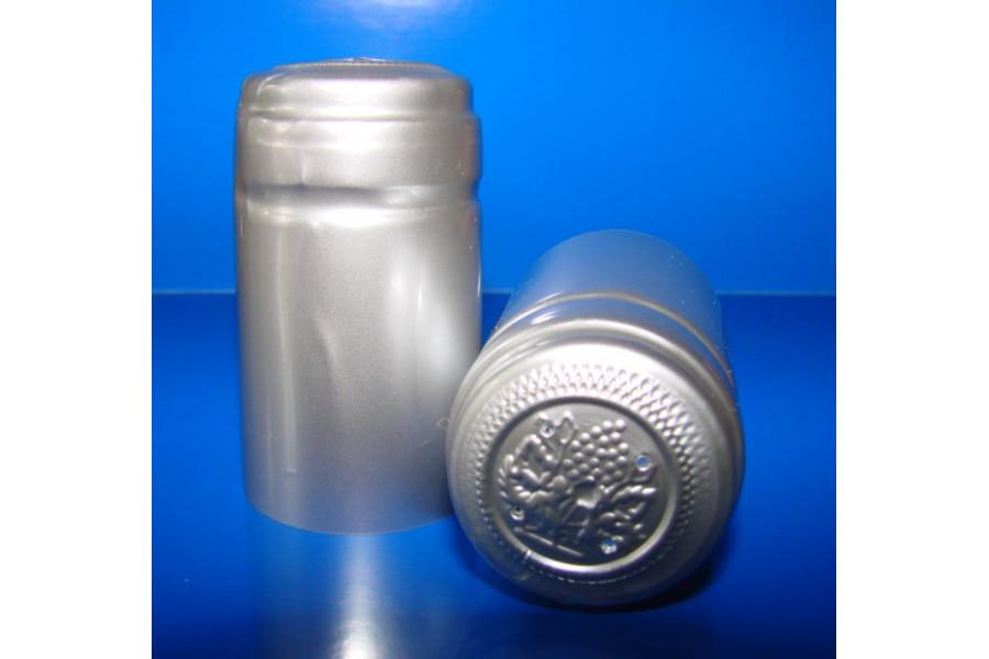 Termokapsle 28,5-30,8x55 mm stříbrná 6001, stříbrný top obrázek
