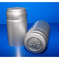 Termokapsle 28,5-30,8x55 mm stříbrná 6002, stříbrný top