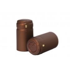 Termokapsle 28,5-30,8x55 mm hnědá 5005, hnědý top