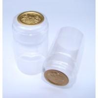 Termokapsle 28,5-30,8x55 mm transparentní, zlatý top