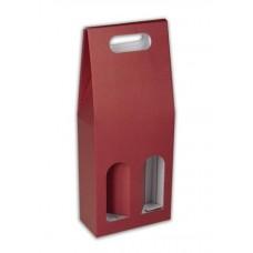 Dárkový karton 2 lahve/ bordo bez potisku