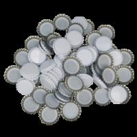 Uzávěr korunkový 29' bílý (200 ks)