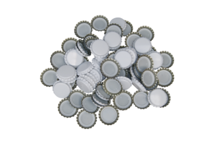 Uzávěr korunkový 29' bílý (200 ks)  obrázek