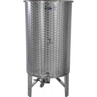 Nerezová nádoba 500 l/ 3 ventily