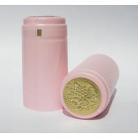 Termokapsle 30,5x60 mm růžová, zlatý top