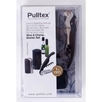 Pulltex sada- vývrtka černá+ uzávěr (107.834)