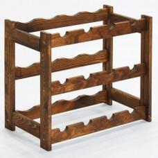 Stojan na 12 lahví-dřevo palisandr