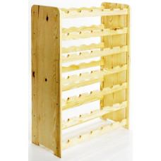 Stojan na 42 lahví- dřevo natur
