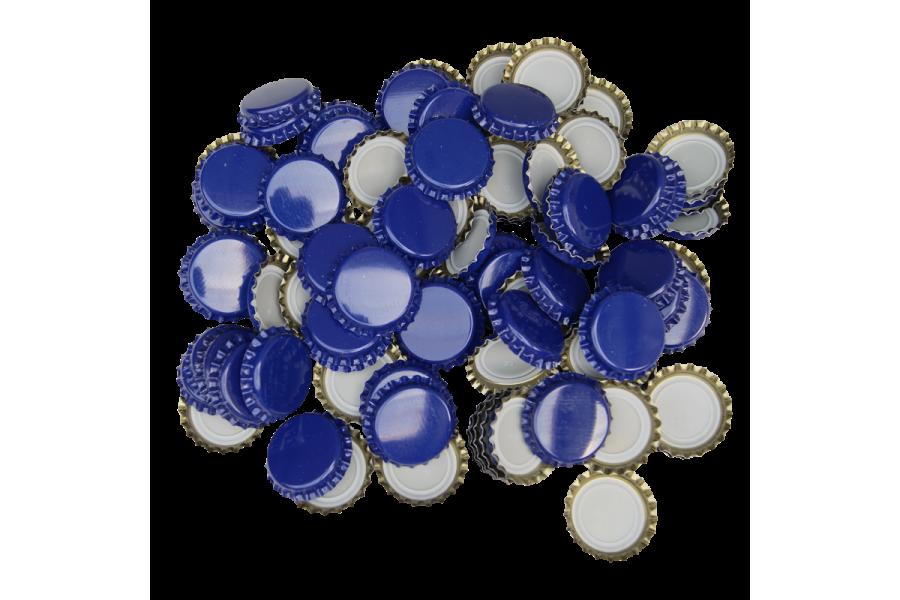 Uzávěr korunkový 26´ modrý (100 ks) obrázek