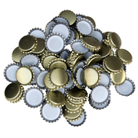 Uzávěr korunkový 29' zlatý (200 ks)