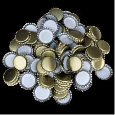 Uzávěr korunkový 26´ zlatý (100 ks)