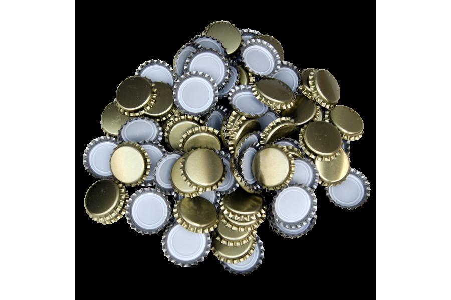 Uzávěr korunkový 29' zlatý (200 ks)  obrázek