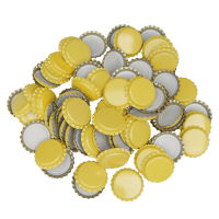 Uzávěr korunkový 26´ žlutý (100 ks)