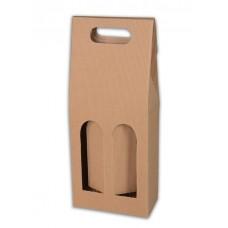 Dárkový karton 2 lahve/ dekor vlnka