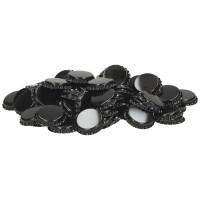 Uzávěr korunkový 26´ černý (100 ks)
